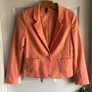 H&M Divided Coral Lined 1 Button Blazer
